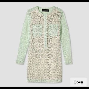 Victoria Beckham for Target green lace dress